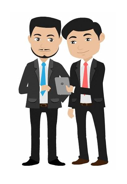 Businessman Animated Customer Character Being Plus Sample