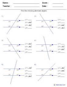 Vertical Angles Worksheet