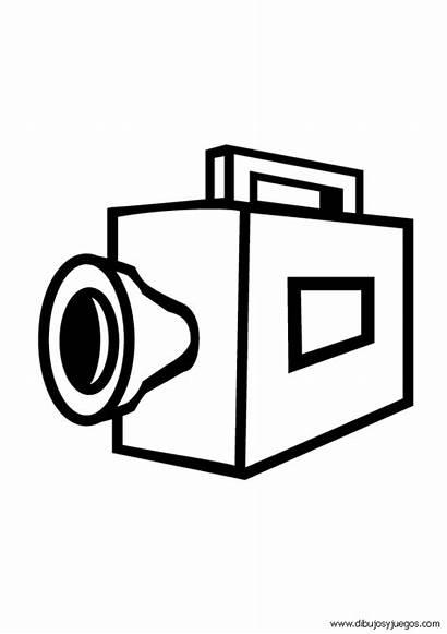Camara Dibujos Coloring Cine Camera Colorear Dibujar