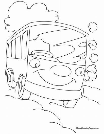 Van Coloring Pages Cartoon Happy Doo Scooby