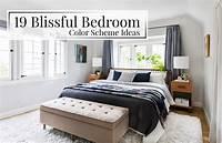 bedroom color palettes 19 Blissful Bedroom Color Scheme Ideas - The LuxPad