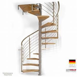 Stufenmatten Für Wendeltreppen : wendeltreppe luxholm rondo mit holzstufen 68 cm laufweite f r decken ffnungen ab 160 cm ~ Sanjose-hotels-ca.com Haus und Dekorationen