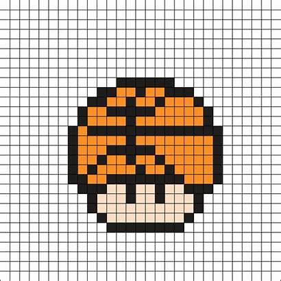 Pixel Mario Perler Mushroom Basket Bead Templates