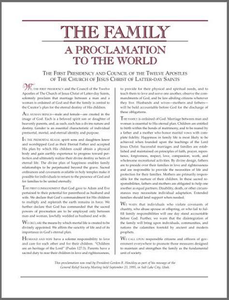 family  proclamation   world lds wedding planner