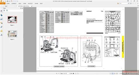 cat   cr mini hydraulic excavator hydraulic system schematic auto repair manual