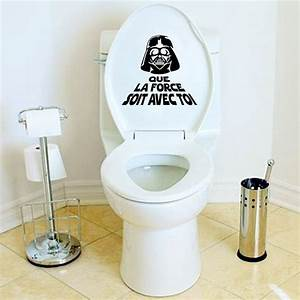 Creative French Vinyl Wall Sticker Star War Toilet WC