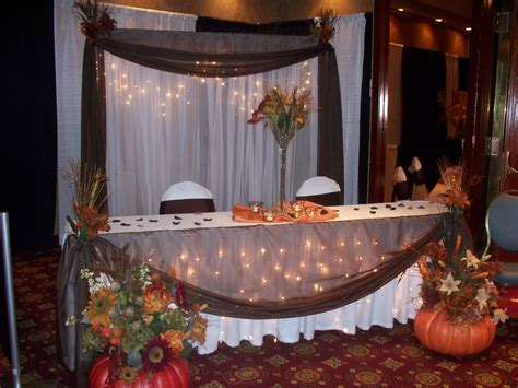 fall wedding table decor wedding shower decorations for indoor and outdoor party trellischicago