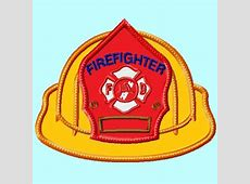 Firefighter Hat front APPLIQUE Embroidery Design great for
