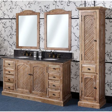 abel   rustic double sink bathroom vanity natural