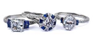 engagement ring with sapphire accents engagement rings with sapphires accents 6