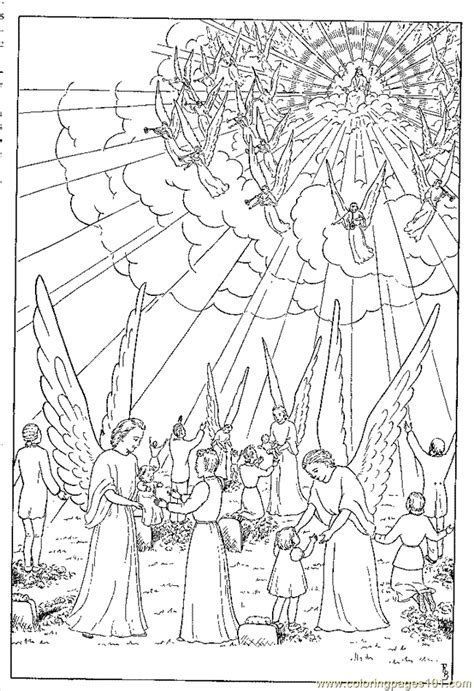 jesus   angels coloring page  angel coloring pages coloringpagescom