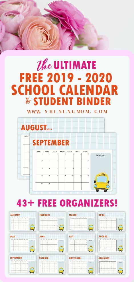 school planner student organizers monthly calendar