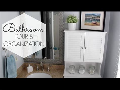Small Bathroom Organization & Tour  Cheap Ideas! Youtube
