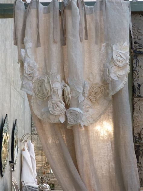tendaggi stile country le bellissime tende di blanc maricl 242 negli arredamenti