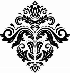 Damask vector floral pattern with arabesque and oriental