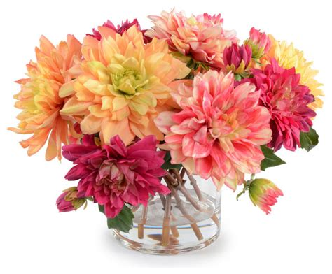 dahlia flower arrangements mixed dahlia arrangement traditional artificial flower arrangements by new growth designs