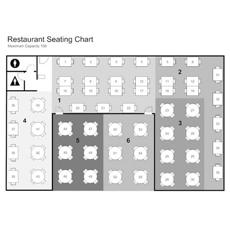 Free Restaurant Seating Chart Template by Restaurant Seating Chart