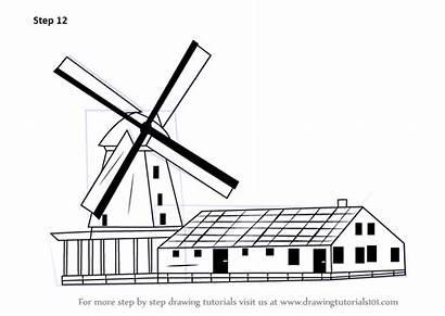 Windmill Step Draw Drawing Windmills Tutorial Improvements