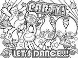 Poppy Coloring Pages Dance Lets sketch template