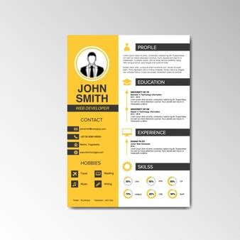 Curriculum Vitae Design Template by Curriculum Vitae And Cover Letter Template Vector Free