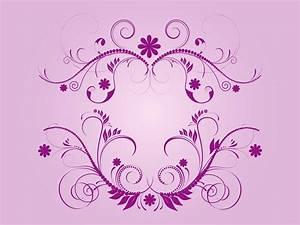 Purple, Vector, Flourishes