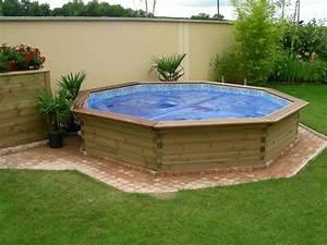 Piscine Semi Enterré Bois : piscine jardin bois images et photos arts et voyages ~ Premium-room.com Idées de Décoration
