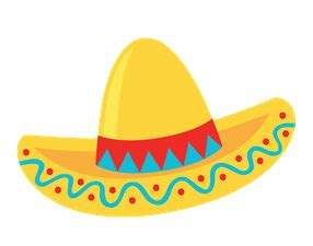 library  fiesta hat clipart black  white  png