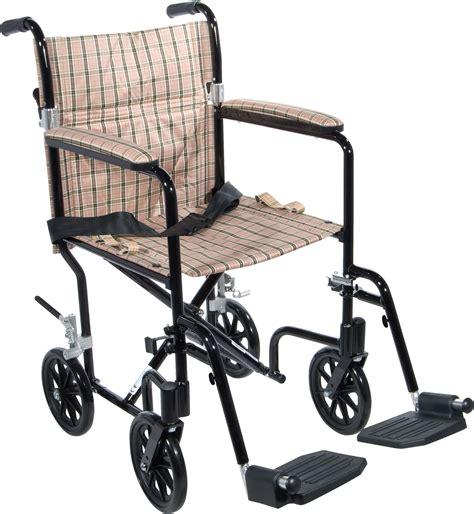 17 quot flyweight lightweight transport wheelchair drive medical