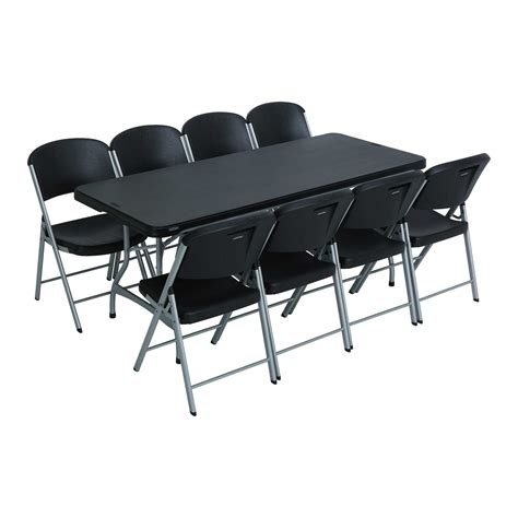 lifetime tables and chairs lifetime 6 ft rectangular tables chairs black fast