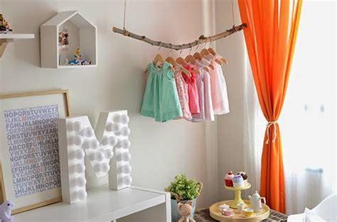 girls bedroom decorating  bright orange color accents