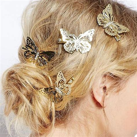 New Design 6Pcs Shiny Hair Clips Women Hairpins Hair