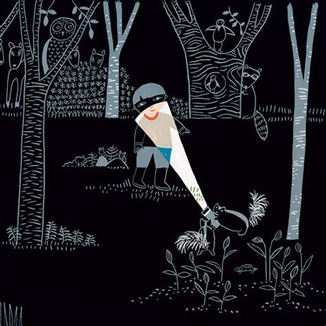 flashlight  whimsical wordless story  curiosity