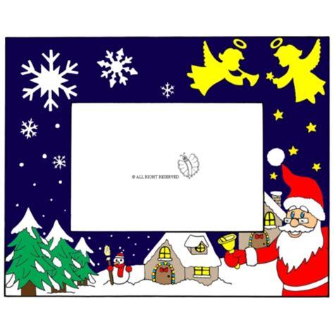 Cornice Di Natale Per Bambini Disegno Di Cornice Di Natale Orizzontale A Colori Per