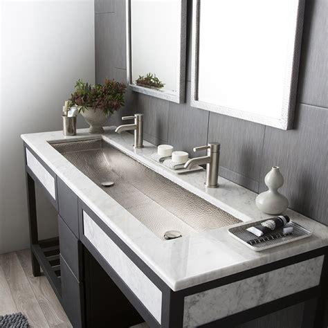 undermount bathroom sink trough 48 basin rectangular bathroom sink