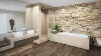 farben badezimmer natürliche materialien wie holz und natursteine sowie auch warme farben erzeugen eine