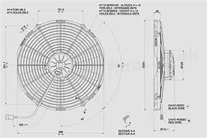30102571 Spal 14 U0026quot   350mm  Cooling Fan Va08 Ll