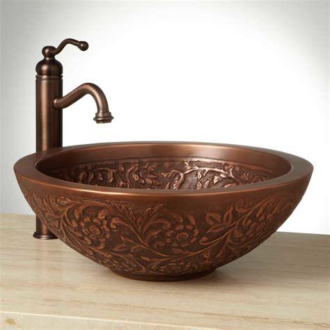 coram double wall copper vessel sink bathroom