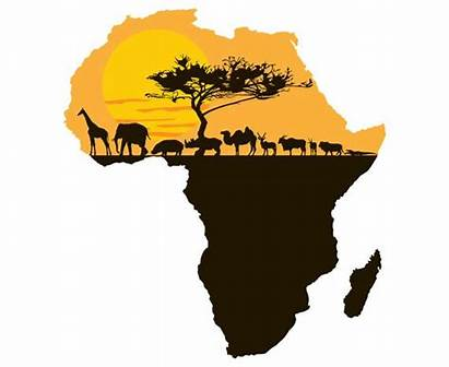 Continent Africa African Clipart Afrika Map Landscape