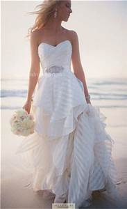 in love with this beachy wedding dress striped fabric With nautical wedding dresses