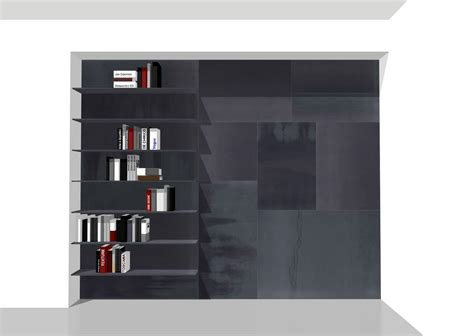 Wall Panels Equipped With Shelves, Customizable Metal
