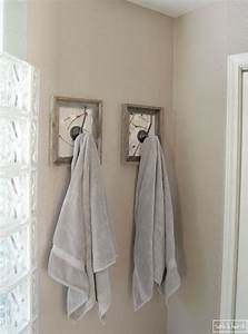 Hometalk Framed Fabric Towel Hook Update
