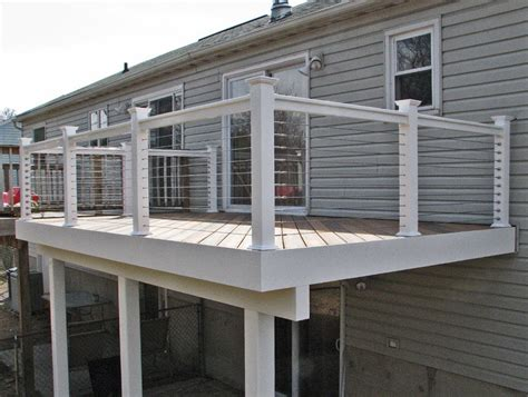 cable deck railing cost cable deck railing systems cost home design ideas