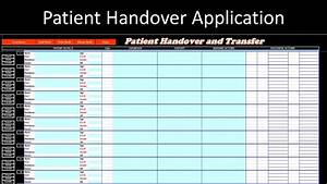 shift report template patient handover application excel vba youtube
