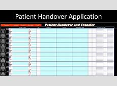 Handover Template Excel calendar monthly printable