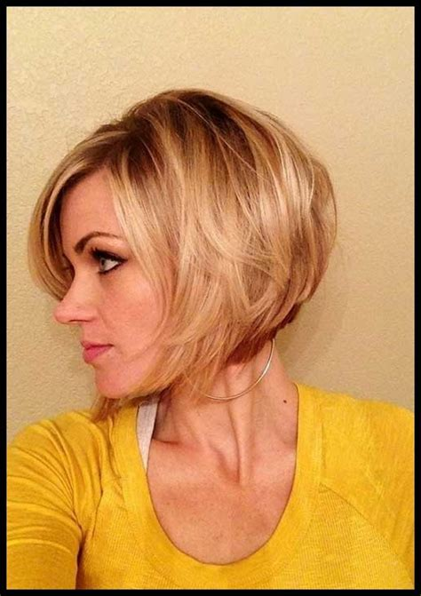 pictures of short bob hairstyles for fine hair   Dhairstyles