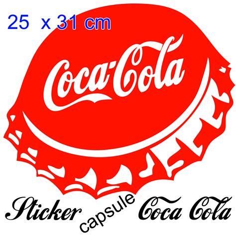 cuisine coca cola stickers autocollant coca cola capsule pour déco cuisine