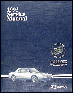 auto manual repair 1993 buick riviera lane departure warning 1993 buick riviera repair shop manual original