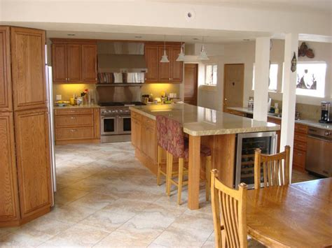 kitchen floor lighting tiled floors with light oak cabinets solid oak cabinets 1645