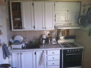 Very small Ikea abstrakt white kitchen - Traditional ...