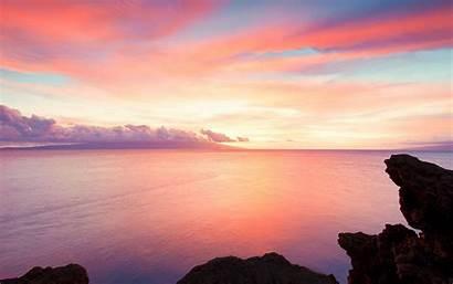 Landscape Pretty Ocean Landscapes Sunset Sea Sky
